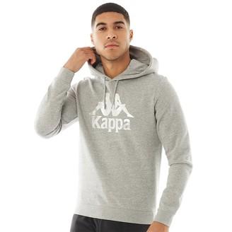 Kappa Mens Authentic Esmio Logo Hoodie Grey/Grey