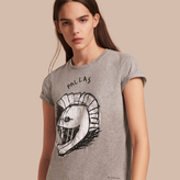 Burberry Pallas Helmet Motif Cotton T-shirt