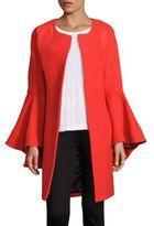 Milly Doubleface Virgin Wool Blend Coat