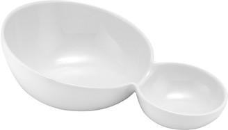Ladelle Classica Porcelain Sloped Split Serving Bowl 24.8 x 16.2 x 8.2cm White