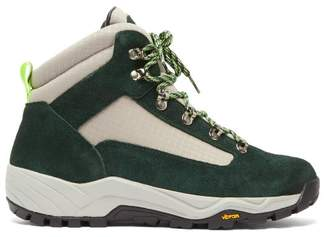Diemme Cortina Canvas And Suede Hiking Boots - Mens - Green