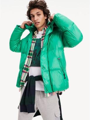 Tommy Hilfiger High Shine Hooded Puffer Jacket