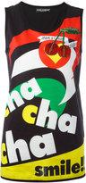 Dolce & Gabbana cha cha cha smile! tank top