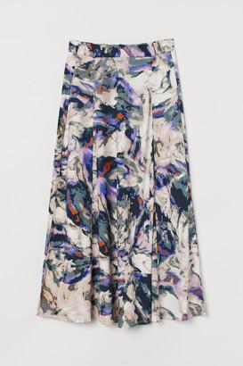 H&M Patterned Jersey Skirt - Purple