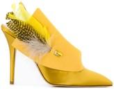 Andrea Mondin Joan feather-embellished pumps