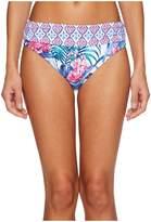 Tommy Bahama Majorelle Jardin High-Waist Sash Bikini Bottom Women's Swimwear