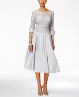 Jessica Howard Lace Three-Quarter-Sleeve A-Line Dress