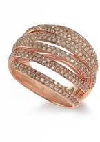 Effy Jewelry Pave Classica 14K Rose Gold Diamond Ring, 1.05 TCW