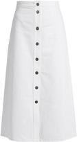 MiH Jeans Bell A-line denim midi skirt