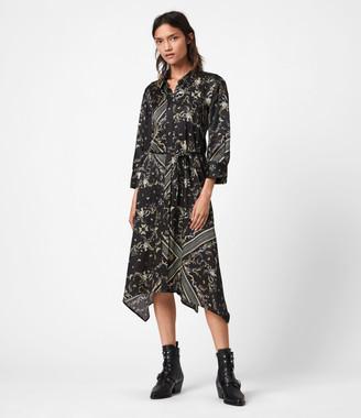 AllSaints Maia Assam Silk Blend Dress