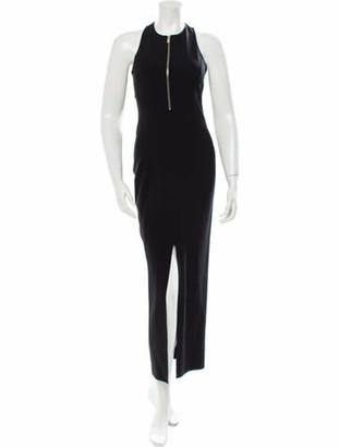 Michael Kors Wool Evening Dress Black
