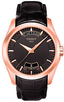 Tissot Mens Couturier Black Automatic Leather Strap Watch