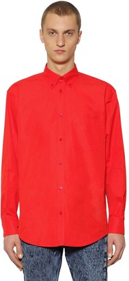 Balenciaga Loose Fit Cotton Poplin Shirt