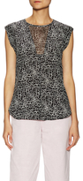 Rebecca Taylor Etched Silk V Illusion Printed Top