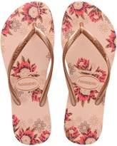 Havaianas Slim Organic Floral-Print Rubber Flip Flops