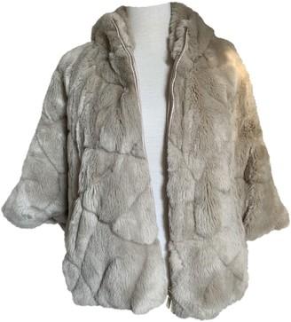 Marella Beige Faux fur Coat for Women