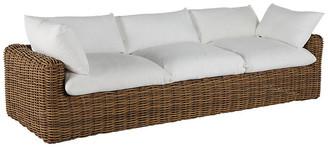 Montecito Outdoor Sofa - Raffia - SUMMER CLASSICS INC - frame, raffia; upholstery, white