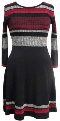 Sandra Darren Striped Fit & Flare Sweater Dress