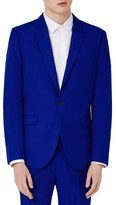 Topman Blue Skinny Fit Suit Jacket