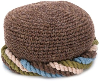Yves Saint Laurent Pre-Owned 1970s Twisted Knitted Cap Hat