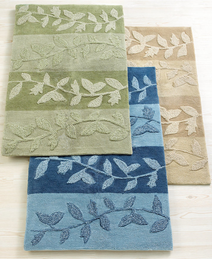 """Martha Stewart CLOSEOUT! Collection Carved Acrylic Vines 26"""" x 42"""" Accent Rug"""