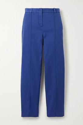 Loro Piana Stretch-cotton Twill Slim-leg Pants - Blue