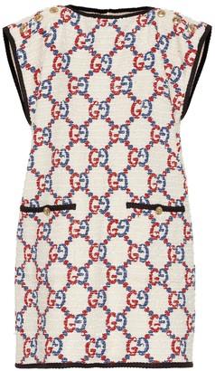 Gucci Cotton-blend tweed minidress