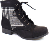 City Classified Black Plaid Gonia Bootie