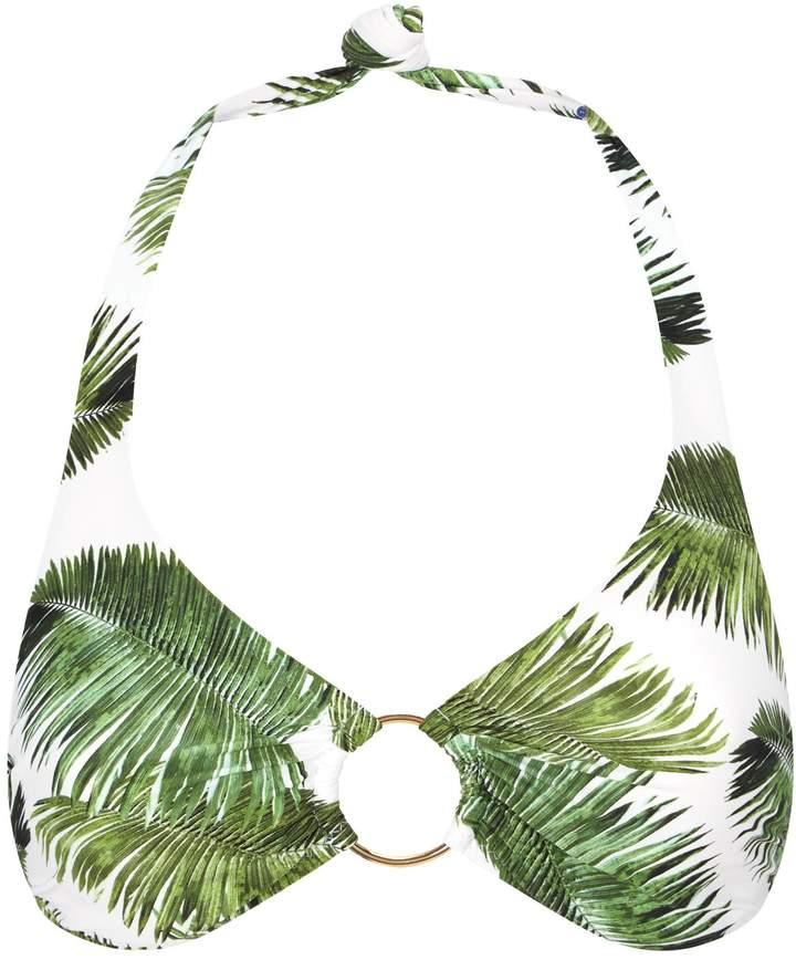 Melissa Odabash Brussels Palm Tree Halterneck Bikini Top