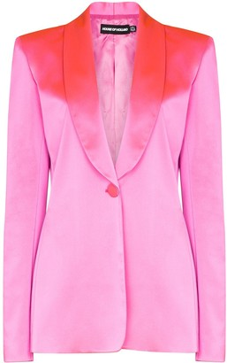 House of Holland Tailored Shawl-Lapel Blazer