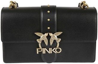 Pinko Bird Wings Chain Strap Shoulder Bag