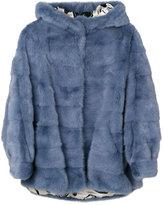 Simonetta Ravizza cropped fur jacket