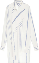 Loewe Striped Cotton and Linen-Blend Tunic