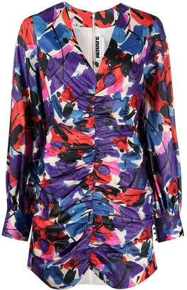 Rotate by Birger Christensen Floral Print Mini Dress