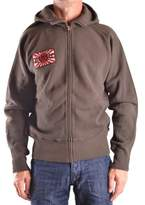 Evisu Men's Brown Cotton Sweatshirt.