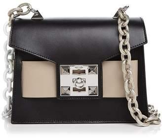 Mila Louise Salar Color-Block Leather Shoulder Bag