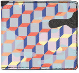Pierre Hardy printed bifold wallet - unisex - Calf Leather/Canvas - One Size