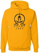 Go All Out Screenprinting Adult Molon Labe Classic Greek Letters Sweatshirt Hoodie