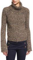 Veronica Beard Indie Melange Turtleneck Sweater, Brown