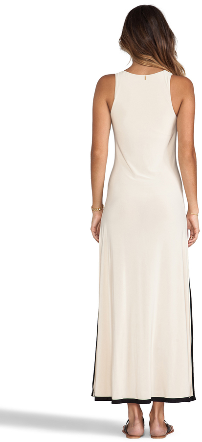 T-Bags LosAngeles Necklace Tiered Maxi Dress