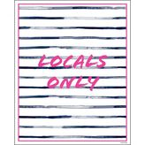 Dormify Locals Only Stripe Print