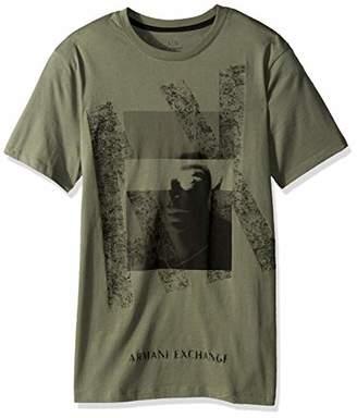 Armani Exchange A|X Men's Short Sleeve Crew Neck Graphic T-Shirt