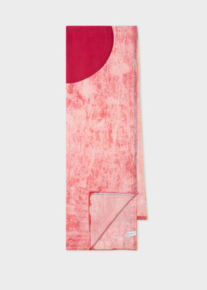Paul Smith Red Tie-Dye 'Japan Flag' Cotton Scarf