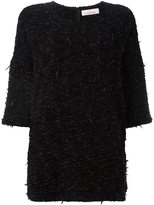 A.F.Vandevorst three-quarter-sleeve sweater - women - Cotton/Polyamide/Viscose/Virgin Wool - 36
