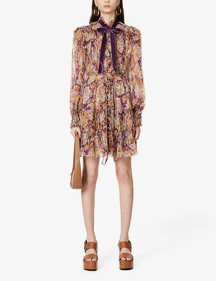 Zimmermann Ladybeetle floral-print silk-blend mini dress