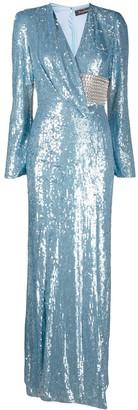 Jenny Packham Sequin Wrap Gown