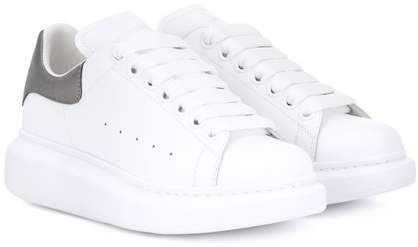 Alexander McQueen Metallic trim leather sneakers