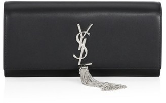Saint Laurent Small Kate Monogram Tassel Leather Clutch