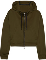 Nike Cropped Stretch Hooded Top - Army green