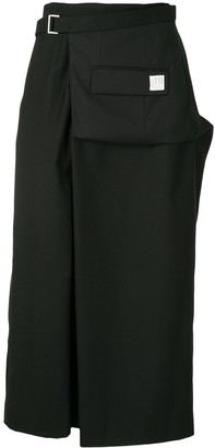 Re Code Wrap-Front Cropped Wide-Leg Trousers